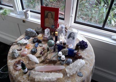 Om retreat altar