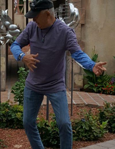 Kenji goofing off
